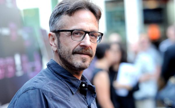 """On his podcast, Marc Maron (pictured here in Los Angeles in 2013) often asks guests what their parents do. """"It's a very defining thing,"""" he says."""