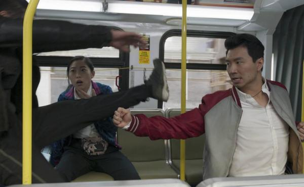 Simu Liu plays a young kung fu master who's hiding from his diabolical father in Shang-Chi and the Legend of the Ten Rings.