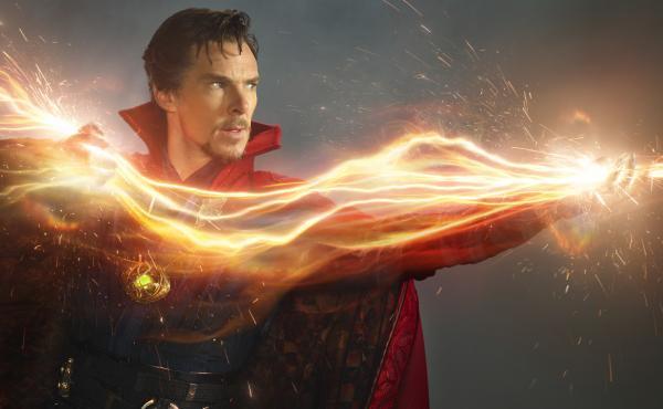 Passing Strange: Benedict Cumberbatch wields eldritch energies as Marvel's Sorcerer Supreme.