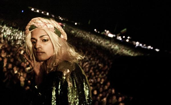 The life of Matangi Arulpragasam, best known as M.I.A., is examined in the new documentary Matangi/Maya/M.I.A. Here, she performs in Denmark in 2011.