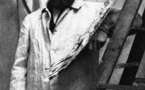 French painter Henri Matisse in his Paris studio.