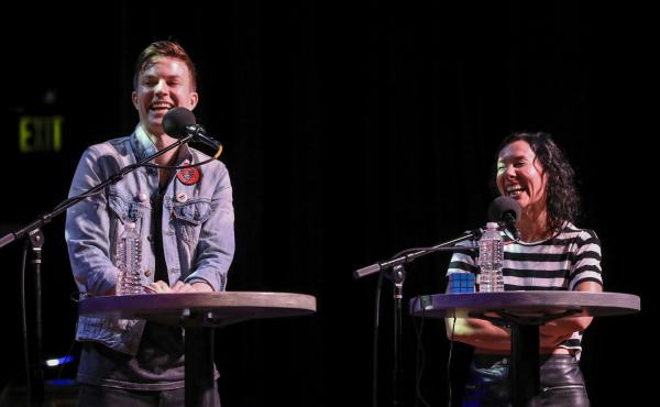 Indie pop duo Matt and Kim appear on Ask Me Another at the Pageant in St. Louis, Missouri.