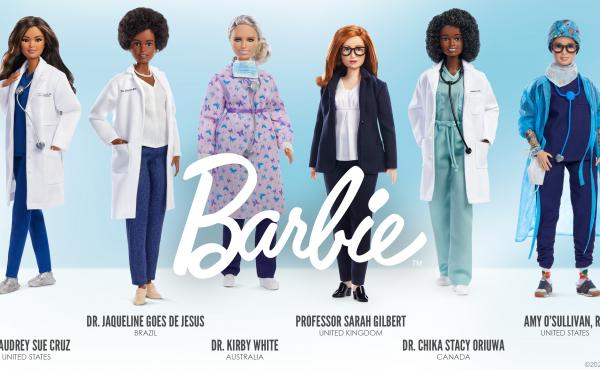 New Barbies honor six women in health care who have been on the front lines in the fight against COVID-19.