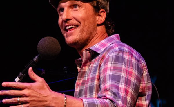 Matthew McConaughey appears on Ask Me Another at the Paramount Theatre in Austin, Texas.