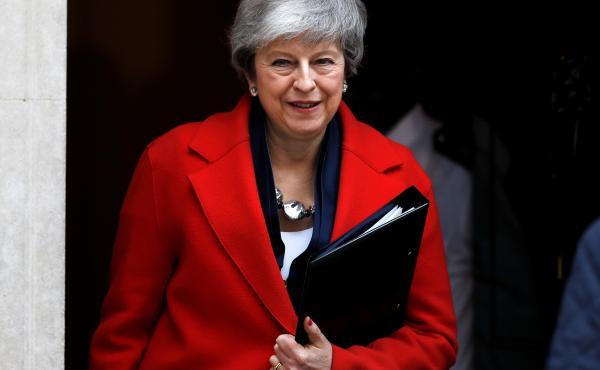 """U.K. Prime Minister Theresa May says that the House of Commons could vote on March 14 to """"seek a short, limited extension to Article 50"""" — the exit clause in the EU Constitution that was triggered after the Brexit vote."""
