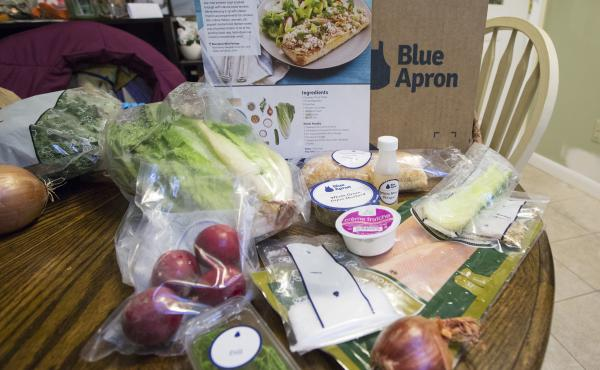While it may seem that heaps of plastic from meal kit delivery services like Blue Apron makes them less environmentally friendly than traditional grocery shopping, a new study says the kits actually produce less food waste.