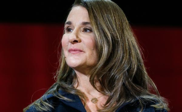 Melinda Gates at a panel discussion in New York in February. She is the author of a new book, The Moment of Lift: How Empowering Women Changes the World.