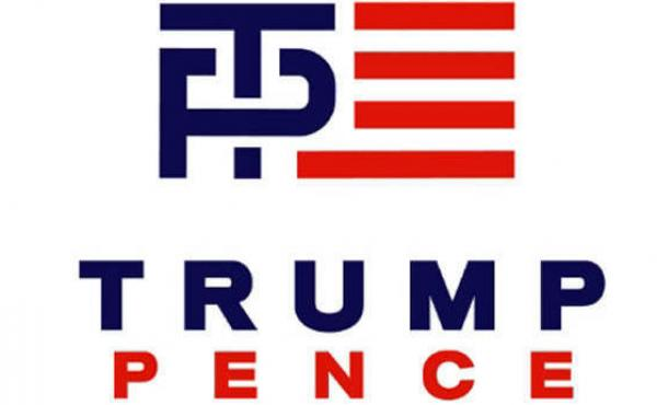 A new Trump-Pence logo sent out by a Trump-RNC joint fundraising committee.