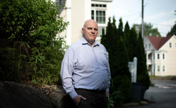 Jim Holland says his memories of being raped as an adolescent were triggered by the 2002-2004 Boston Globe Spotlight investigation of sexual abuse by priests. He lives in Quincy, Mass.