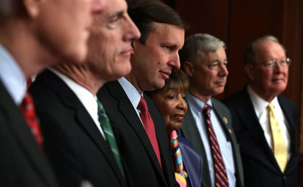 Rep. Tim Murphy, R-Pa., Sen. Chris Murphy D-Conn., Rep. Eddie Bernice Johnson, D-Texas, Rep. Fred Upton, R-Mich., and Sen. Lamar Alexander, R-Tenn., called for Senate passage of the 21st Century Cures Act on Monday.