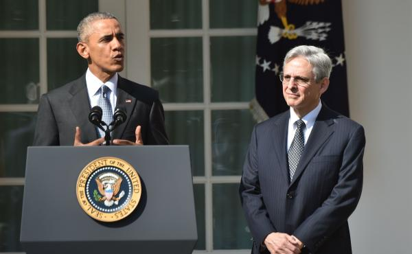 President Obama introduces Merrick Garland as his Supreme Court nominee Wednesday at the White House. Garland, 63, is currently chief judge of the U.S. Court of Appeals for the District of Columbia Circuit.