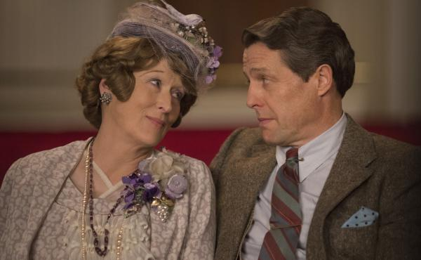 Meryl Streep plays the title character, and Hugh Grant is her doting hubby, in Florence Foster Jenkins.