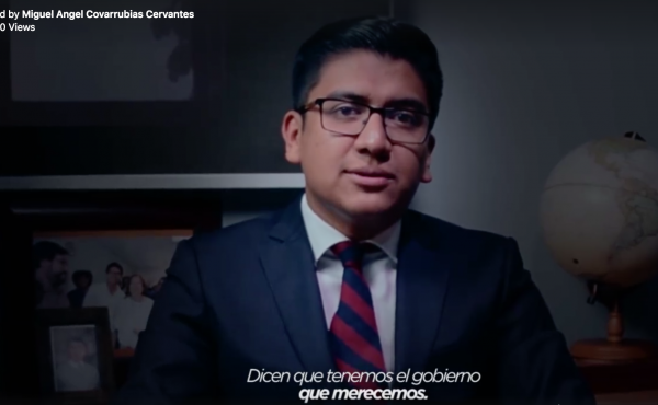Miguel Angel Covarrubias Cervantes, a former mayor in central Mexico, posted a video of him delivering a speech inspired by a Netflix promotional video for House of Cards.