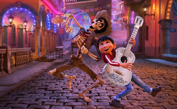 In Coco, young Miguel's love of music ultimately leads him to the Land of the Dead where he teams up with charming trickster Hector.