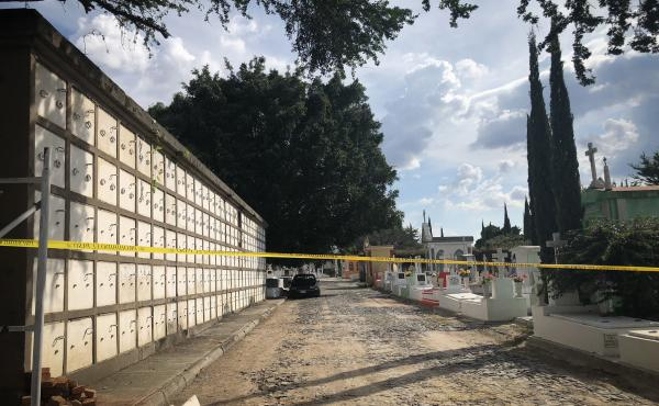 A site in a Guadalajara cemetery last week, where the state wants to bury the bodies that are currently stacked up at the local morgue.