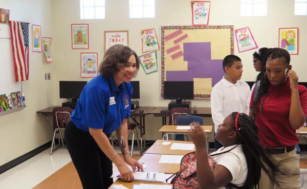 Jose De Diego Middle School teacher Cyd Browne challenged her 7th-grade engineering class to design a plan to protect an area from the mosquitoes that carry Zika.