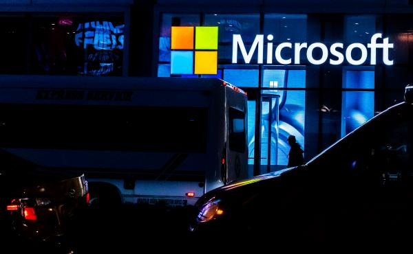 Microsoft announced Monday that it will acquire ZeniMax Media, the parent company of popular video game publisher Bethesda, for $7.5 billion. Here, a Microsoft store is shown in March in New York City.