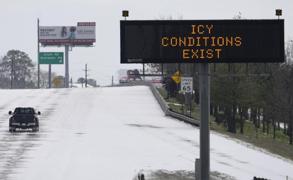A frigid blast of winter weather across the U.S. plunged Texas into an unusually icy emergency Monday that knocked out power to almost 4 million people and shut down airports and roads.