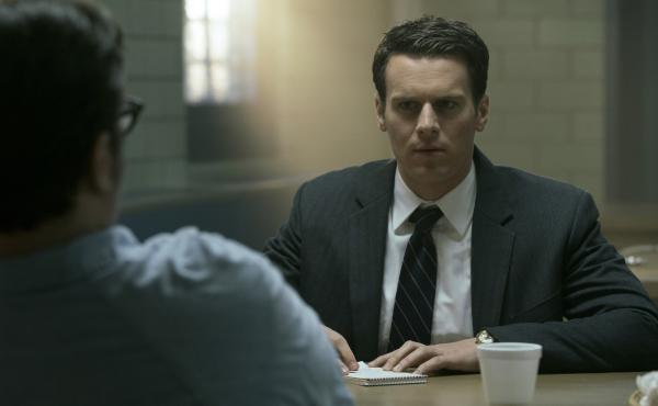 Jonathan Groff plays an FBI agent and criminal profiler in the Netflix series Mindhunter.