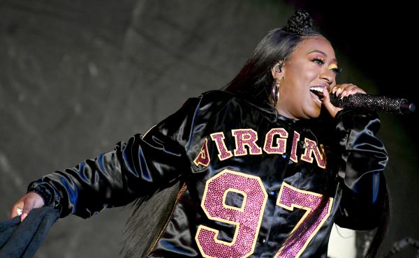 Missy Elliott performs onstage at Something in the Water Festival in April 2019 in Virginia Beach City. The rapper's latest EP, Iconology, is out now.