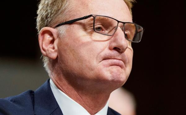 Acting Navy Secretary Thomas Modly testifies before a Senate hearing in December 2019.
