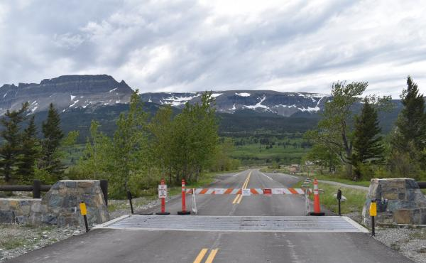 The St. Mary entrance into Glacier National Park, which borders the Blackfeet Indian Reservation, remained closed on June 5. Park officials and tribal leaders say they are negotiating when it will be safe to reopen the east side of the park.
