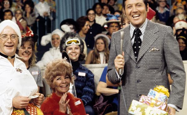 Monty Hall, in a 1969 photo, hosts Let's Make A Deal.
