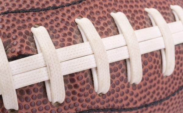 An American football.
