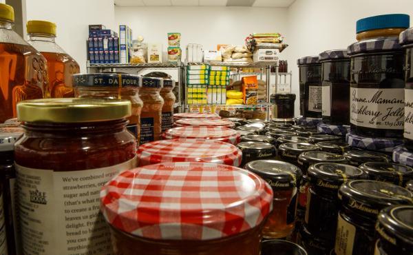 The George Washington University food pantry.