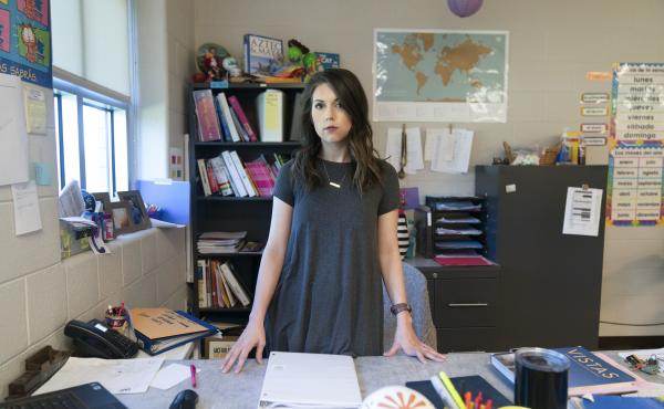 Kaitlyn McCollum, pictured here in 2018, was teaching high school in Tennessee when her federal TEACH Grants were turned into more than $20,000 in loans.