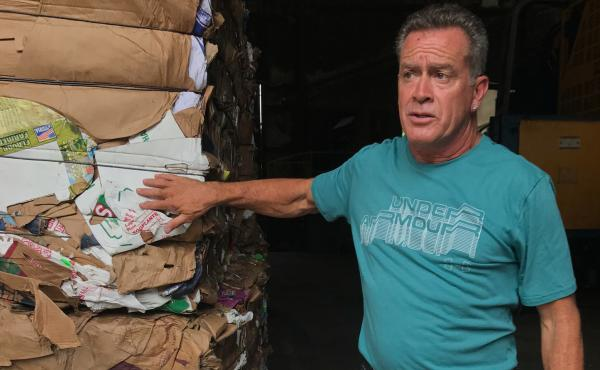 Kevin Carducci is part owner and plant manager of Omni Recycling. He says it costs the business $1 million a year to get rid of the plastics that can't be recycled.