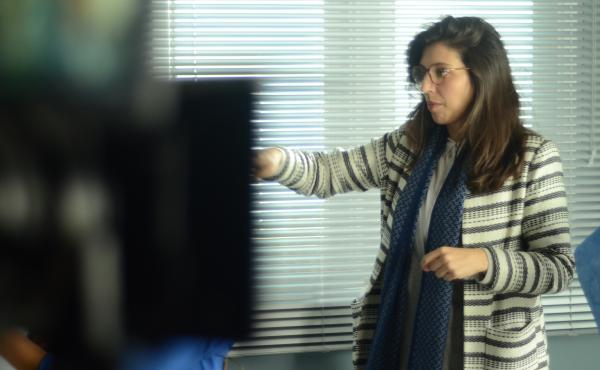 """Director Catalina Aguilar Mastretta behind the scenes of """"Everybody Loves Somebody."""""""