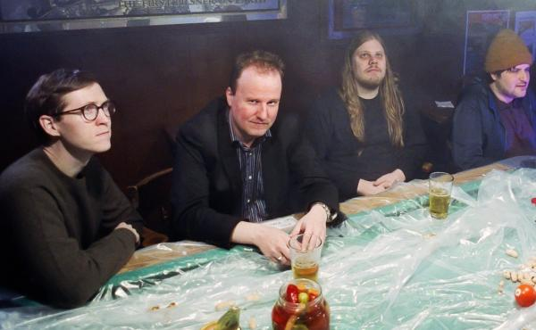 Rock group Protomartyr. From right to left: Alex Leonard, Joe Casey, Scott Davidson, Greg Ahee.