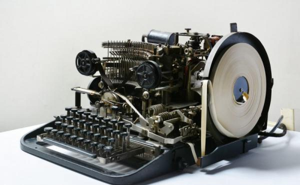 A Lorentz teleprinter, used by the Nazis to transmit highly complex encrypted messages.