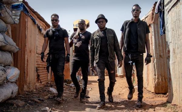 The band Songhoy Blues from Bamako, Mali.