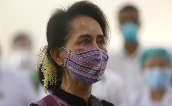 Myanmar leader Aung San Suu Kyi was detained early Monday, her party said, amid fears of a coup.
