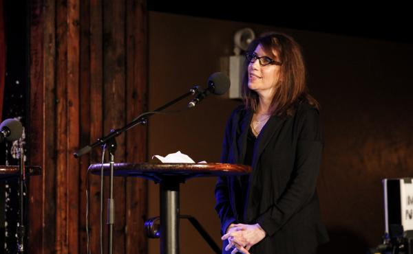 Mystery Guest Laurie Pressman appears on Ask Me Another at the Bell House in Brooklyn, New York.