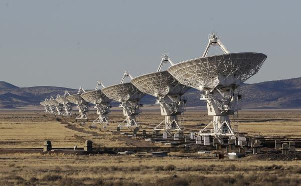 Scientists used the National Radio Astronomy Observatory's Very Large Array near Socorro, N.M., to detect fast radio bursts.