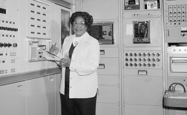 Mary Jackson, NASA's first Black female engineer, in 1977 at NASA's Langley Research Center in Hampton, Va.