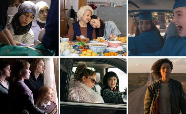 The Cave, The Farewell, Booksmart, Little Women, Hustlers and Fast Color (from left, starting in top row) all made NPR's favorite-movie list this year.