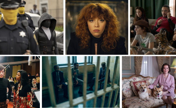 Clockwise: Watchmen, Russian Doll, Los Espookys, The Crown, When They See Us and Documentary Now! made NPR critics' list of the best television of 2019.