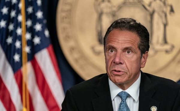 New York Gov. Andrew Cuomo speaks during the daily media briefing on July 23, 2020 in New York City. A second former aide from his administration has come forward with allegations of sexual harassment from Cuomo.