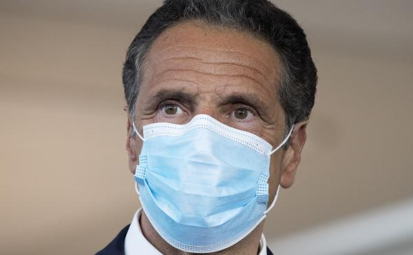 New York Gov. Andrew Cuomo, shown here at a news conference earlier this month, said Wednesday the travel advisory would go into effect midnight Thursday.
