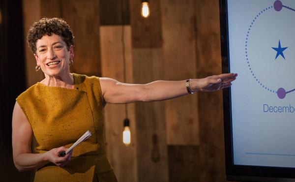 Naomi Oreskes on the TED stage