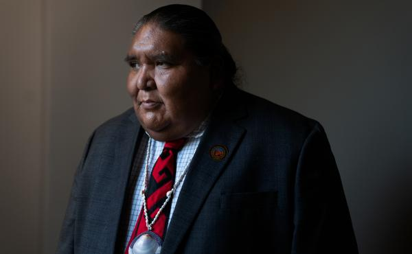 Verlon Jose, vice chairman of the Tohono O'odham Nation, says President Trump's proposed wall would devastate his community.