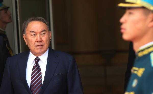Kazakh President Nursultan Nazarbayev says he will leave his post after nearly 30 years in office. He's seen here at the Akkorda Palace in Astana, Kazakhstan, in 2016.
