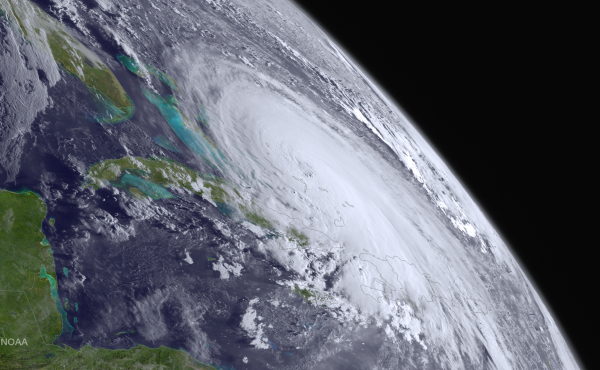 Hurricane Joaquin seen in a satellite image on Oct. 1, 2015.