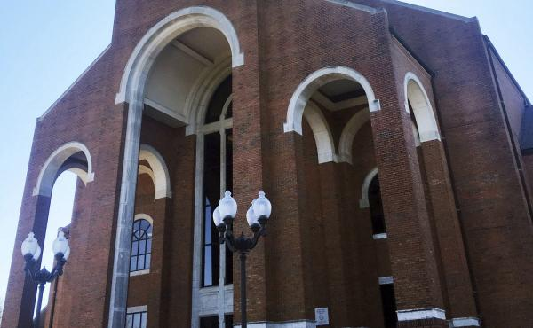 The sanctuary at Briarwood Presbyterian Church, in Birmingham, Ala. Alabama Gov. Kay Ivey has signed legislation permitting the church to hire its own police force.
