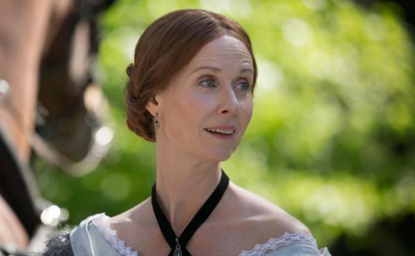 "Cynthia Nixon plays Emily Dickinson in Terence Davies' new film A Quiet Passion. ""I think she was afraid of life,"" Davies says. ""Like a lot of geniuses, she had — skin missing. And that makes you very, very vulnerable."""