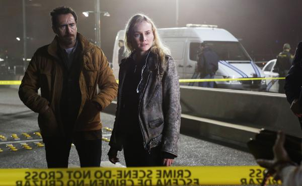 Mexican homicide detective Marco Ruiz (played by Demián Bichir) must work with his American counterpart, Sonya Cross (Diane Kruger), to solve a murder on the U.S.-Mexico border in FX's new series The Bridge.